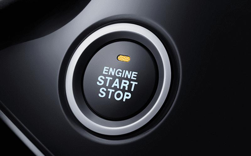 Vista botón de arranque y apagado